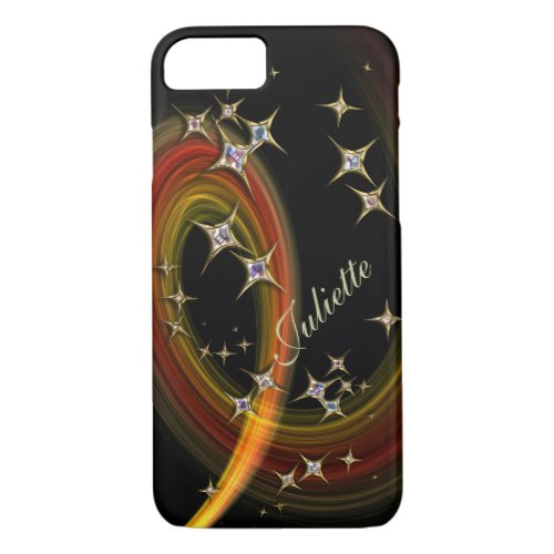 Twinkle Little Star – bling art with custom name iPhone Case