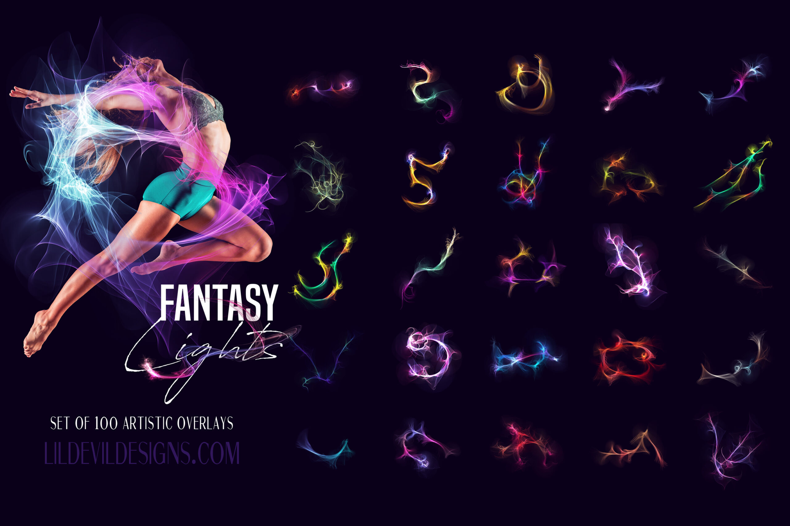 Fantasy Lights Overlays Preview